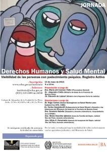 Jornada  sobre Derechos Humanos y Salud Mental: Visibilidad de las personas con padecimiento psíquico.- Registro Activo.-