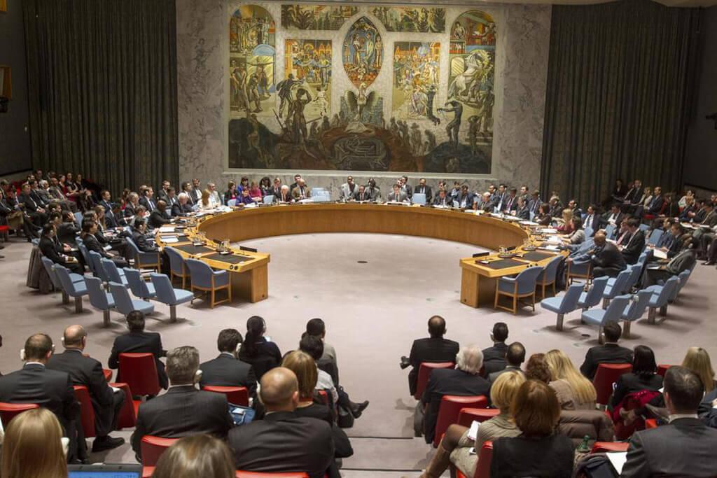 La sala del Consejo de Seguridad de la ONU