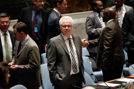 Vitali Churkin, representante permanente de la Federación de Rusia ante la ONU. Fuente: Reuters