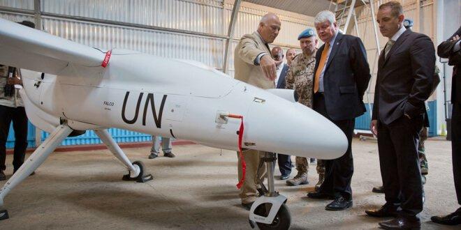 Vehículo aéreo no tripulado y desarmado Foto: MONUSCO/Sylvain Liechti