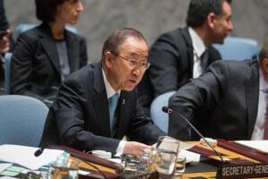 En su discurso ante el Consejo de Seguridad, el Secretario General de la ONU pidió un compromiso con una solución para Israel y Palestina de dos Estados. Foto: ONU/Loey Felipe