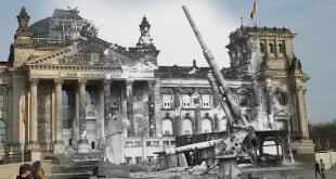 70 Years Since WW2: Overlay Images Show Then And Today