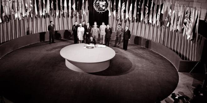 La Carta fundacional de la ONU se firmó el 26 de junio de 1945. Foto: ONU/Yould