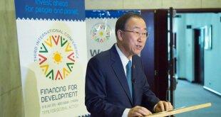 """Ban Ki-moon encomió el acuerdo nuclear con Irán y lo calificó como """"histórico"""". Foto: ONU/Eskinder Debebe"""