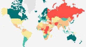 Mapa interactivo del Índice de paz global
