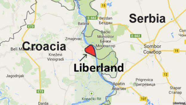 Liberland está ubicado en la frontera entre Serbia y Croacia.