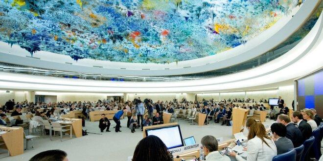 Sala del Consejo de Derechos Humanos. Foto ONU/Jean-Marc Ferré.