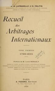 Recueil des arbitrages internationaux