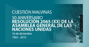 50 años de la adopción de la Resolución 2065 (xx) de la Asamblea General de las Naciones Unidas.