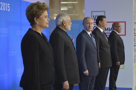 Los mandatarios de los BRICS en la cumbre celebrada en Ufá, Rusia, en 2015. Fuente:Reuters