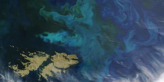 Las islas Malvinas, vistas desde un satélite.
