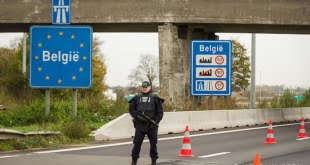 La frontera entre Francia y Bélgica.