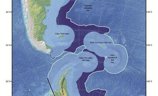 El nuevo mapa de Argentina.Foto:Cancillería