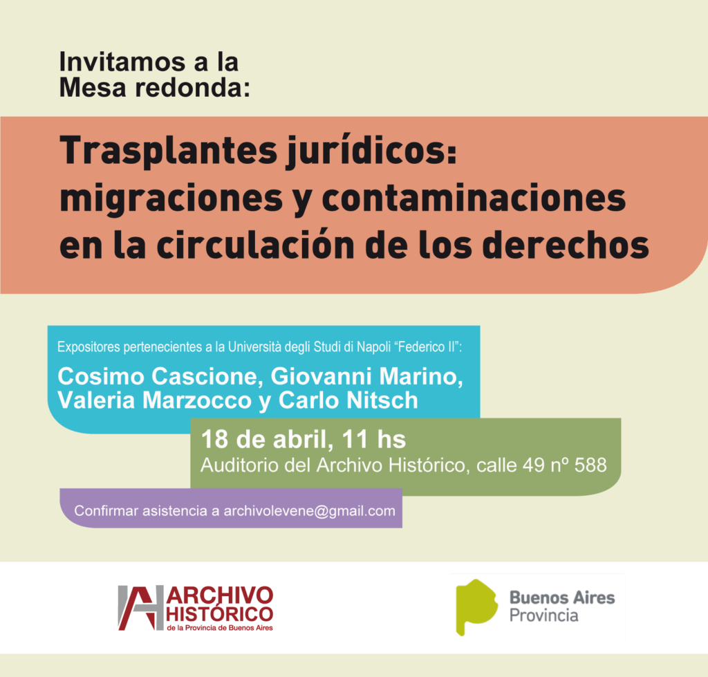 Trasplantes jurídicos: migraciones y contaminaciones en la circulación de los derechos