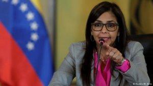 La ministra de Exteriores de Venezuela, Delcy Rodríguez.
