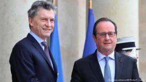 Hollande y Macri hablan de integración económica en París