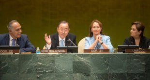 Evento de alto niviel sobre la entrada en vigor del Acuerdo de París. Foto: ONU/Cia Pak