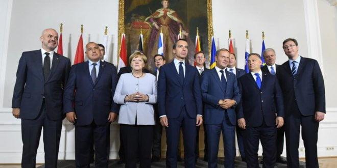Líderes europeos se reunieron en Viena.