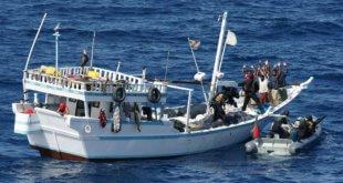 Barco pirata en la costa de Somalia. Foto: Unión Europea