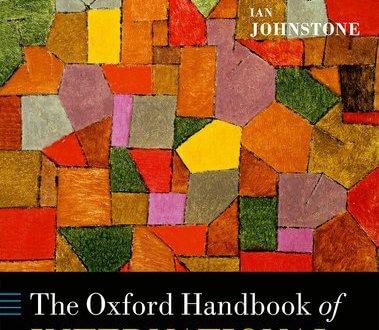 The Oxford Handbook of International Organizations Edited by Jacob Katz Cogan, Ian Hurd, and Ian Johnstone