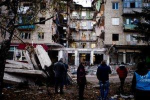 El conflicto en el este de Ucrania ha tenido una fuerte repercusión sobre los civiles. Foto ACNUR