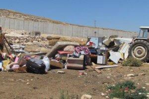 Demolición de propiedades palestinas en Cisjordania por las fuerzas israelíes. Foto: OCHA