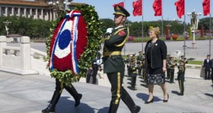 Michelle Bachelet en su visita a China el 12 de mayo de 2017