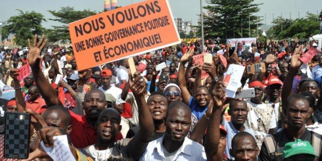 Manifestación en Bamako. HABIBOU KOUYATE AFP