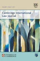 New Issue: Cambridge International Law Journal