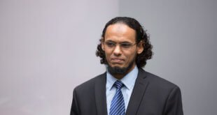 Ahmad Al Faqi Al Mahdi se declaró culpable de destrucción de monumentos históricos y religiosos en Timbuktú. Foto: CPI