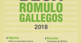 Beca Rómulo Gallegos 2018