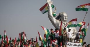 Mitin en Erbil,capital del Kurdistán iraquí. CHRIS MCGRATH (GETTY)