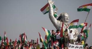 Mitin en Erbil,capital del Kurdistán iraquí. CHRIS MCGRATH (GETTY)