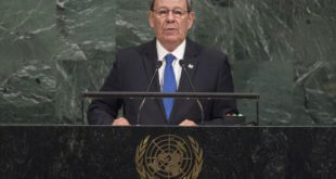 Rodolfo Nin Novoa, ministro de Relaciones Exteriores de Uruguay, en la Asamblea General de la ONU. Foto: ONU/Cia Pak