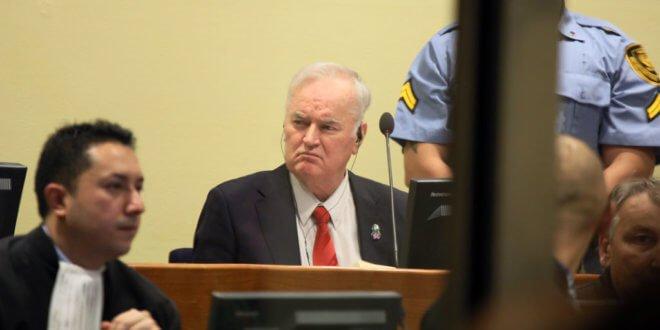 Ratko Mladic, ex comandante del Ejército Serbiobosnio, ante el Tribunal Internacional para la ex Yugoslavia (TPIY). Foto: TPIY