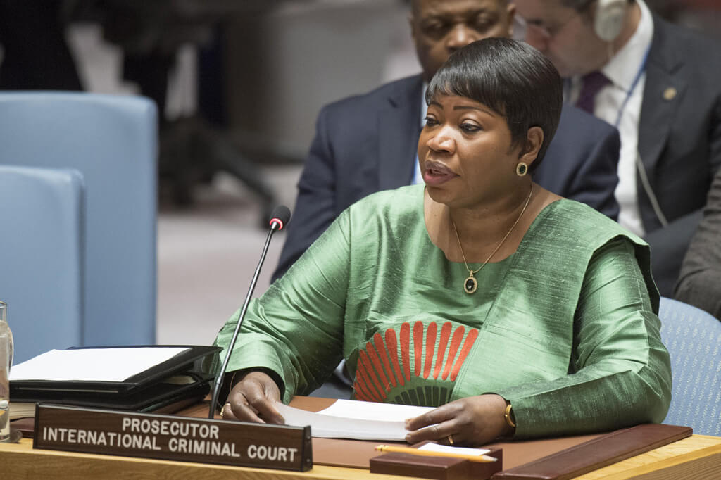 Fatou Bensouda, fiscal de la Corte Internacional de Justicia, informa al Consejo de Seguridad sobre la situación en Libia. Foto: ONU / Eskinder Debebe