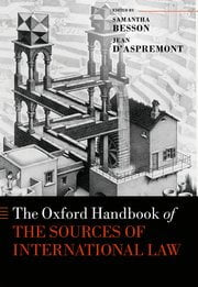 d'Aspremont & Besson: The Oxford Handbook of the Sources of International Law