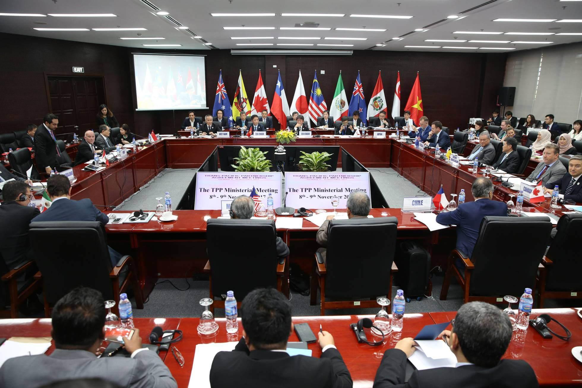 Ministros de comercio de los once países integrantes del Acuerdo Transpacífico en la ciudad de Danang (Vietnam) el 9 de noviembre de 2017. NA SON NGUYEN Getty Images