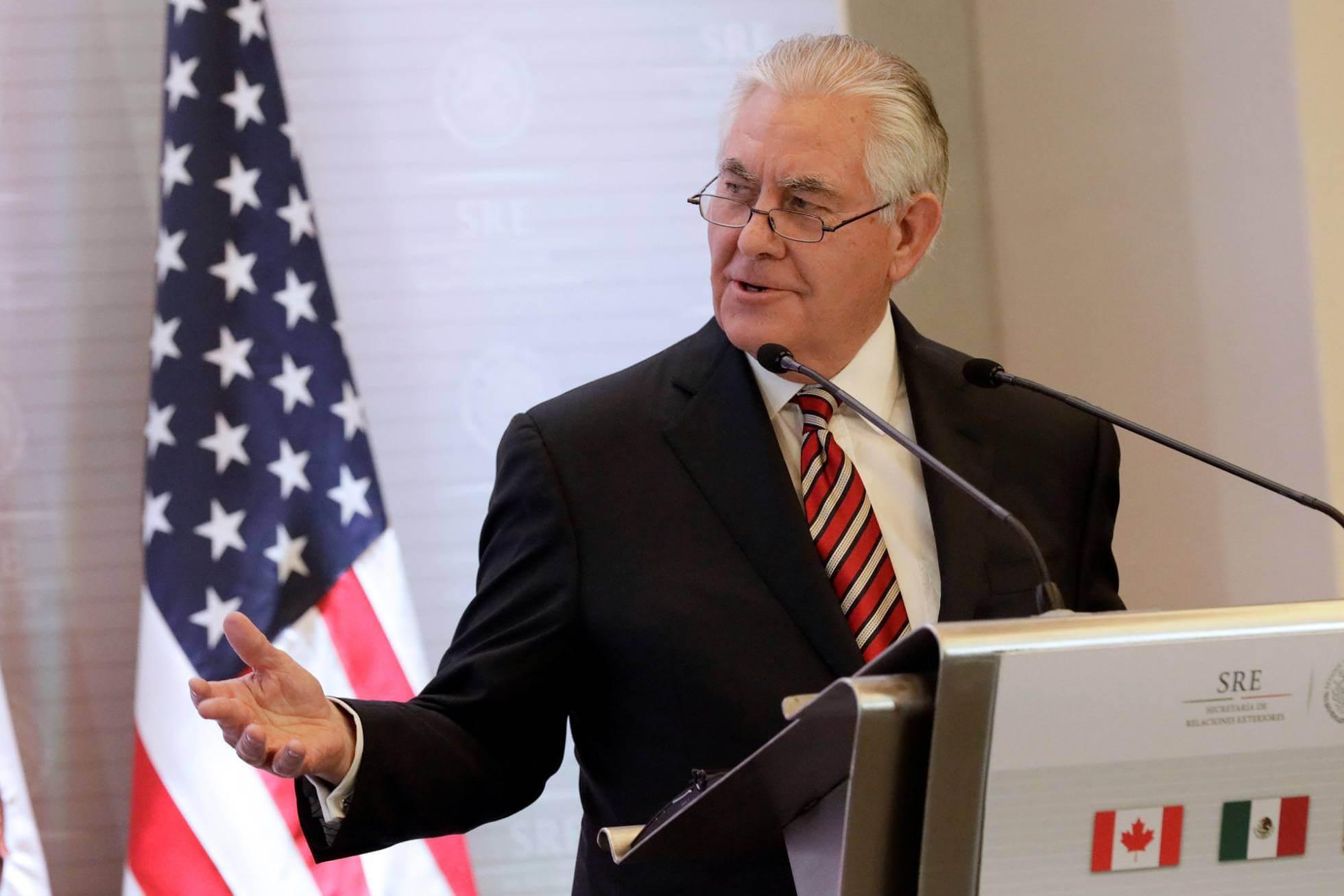 Tillerson, este viernes, en la Ciudad de México. H. R. REUTERS