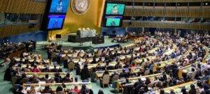 ONU/Manuel Elias Mujeres se reúnen en la Asamblea General para celebrar el Día Internacional de la Mujer.