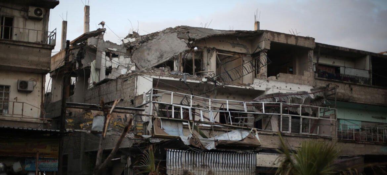 UNICEF/Amer Al Shami Vista callejera de la ciudad de Duma, en Guta Oriental.