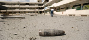 UNICEF / Eyad El Baba Imagen de archivo de un casquillo en el suelo de la escuela Sobhi Abu Karsh en la ciudad de Gaza.