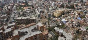 Dominic Chávez/Banco Munidial Foto aérea de Bogotá, la capital colombiana