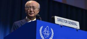 El director general del OIEA, Yukiya Amano, en la 61a conferencia general del organismo internacional. Foto de archivo: OIEA / Dean Calma