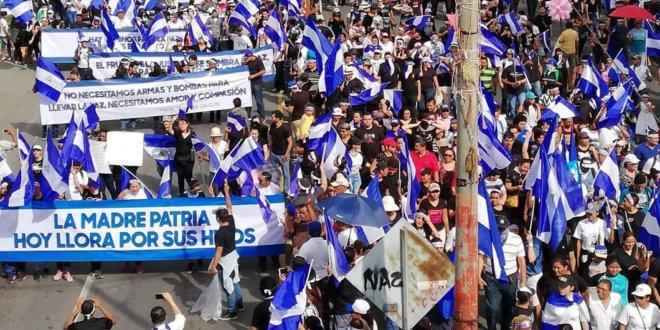 Álvaro Navarro / Artículo 66 Miles de personas han protestado contra el Gobierno de Nicaragua desde abril. Más de cien manifestantes han muerto.