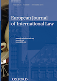 European Journal of International Law - EJIL