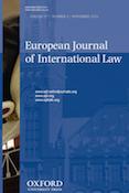 European Journal of International Law - EJIL