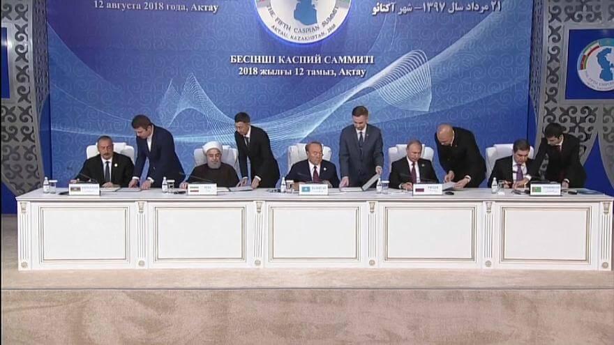 Histórico acuerdo sobre el mar Caspio