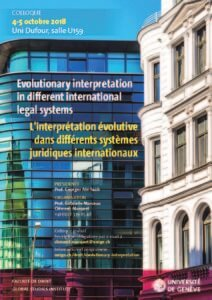 Conference: Evolutionary interpretation in different international legal systems