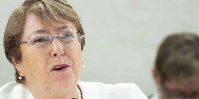 ONU / Jean-Marc Ferré La Alta Comisionada para los Derechos Humanos, Michelle Bachelet, habla ante el Consejo de Derechos Humanos el 10 de septiembre de 2018.